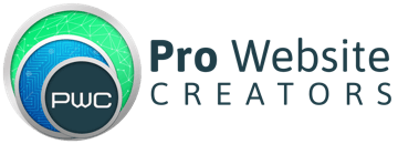 prowebsitecreators Logo with Text Dark blue 360w